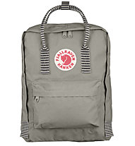 Fjällräven Kanken 16 L - Rucksack, Light Gray/Striped