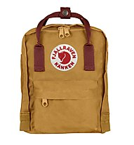Fjällräven Kanken Mini 7 L - zaino tempo libero, Light Brown /Dark Red