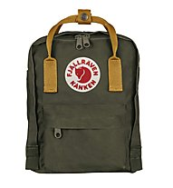 Fjällräven Kanken Mini 7 L - zaino tempo libero, Green/Orange