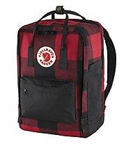 "Fjällräven Kanken Re-Wool Laptop 15"" - Daypack, Red/Black"