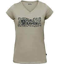 Fjällräven Logo stamp - T-shirt - donna, Green