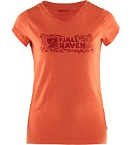 Fjällräven Logo stamp - T-shirt - donna, Red