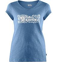 Fjällräven Logo stamp - T-shirt - donna, Blue