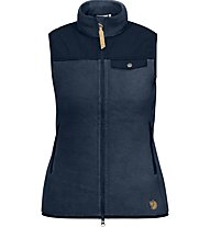 Fjällräven Singi Fleece Vest Gilet in pile donna, Blue