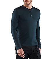 Fjällräven Singi Merino Henley - maglia a maniche lunghe - uomo, Blue