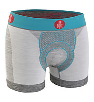 For-bicy Urban Life With Pad - Boxershort mit Sitzpolster - Herren, Grey/Light Blue