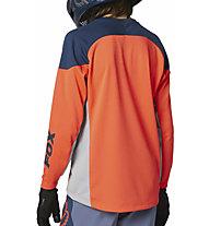 Fox Defend LS - maglia bici a maniche lunghe - ragazzo, Blue/Orange
