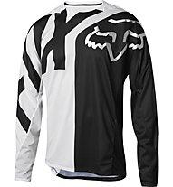 Fox Demo LS Preme Jersey - maglia bici downhill - uomo, Black/White