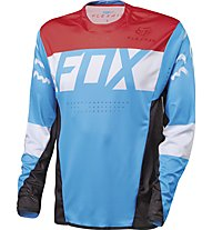 Fox Flexair DH LS Jersey Downhill-Shirt, Cyan