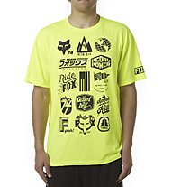 Fox Division Tech Tee - T-shirt MTB - uomo, Flo Yellow