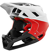Fox Proframe Pistol - casco MTB - uomo, White/Red