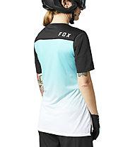 Fox W FLEXAIR SS JERSEY - maglia bici - donna, Green