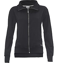 Freddy Brushed Stretch Fleece Giacca sportiva fitness donna, Black