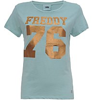 Freddy Cargo & Tee - T-Shirt Fitness - Damen, Light Blue