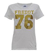 Freddy Cargo & Tee - T-Shirt Fitness - Damen, White/Gold