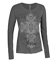 Freddy F4wad13 Shirt Maglia a maniche lunghe donna, Anthracite