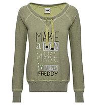 Freddy Sweatshirt W - Pullover - Damen, Light Green
