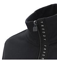Freddy C/Zip Brushed Stretch Fleece - Fitnessjacke - Damen, Black