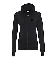 Freddy Sweat Stretch Fleece felpa con zip donna, Black