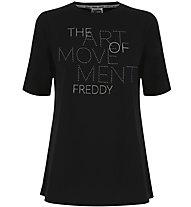 Freddy Flamed Jersey - T-Shirt - Damen, Black