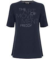 Freddy Flamed Jersey - T-Shirt - Damen, Dark Blue
