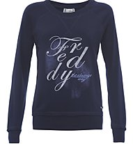 Freddy Flower Core Sweatshirt Damen, Blue
