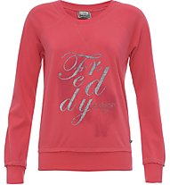 Freddy Flower Core Sweatshirt Damen, Red