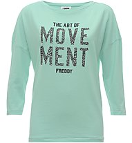 Freddy French terry - Fitness T-Shirt - Damen, Light Blue