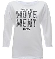 Freddy French terry - Fitness T-Shirt - Damen, White