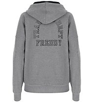 Freddy Hoodie Brushed Stretch Fleece - giacca con cappuccio fitness - donna, Grey