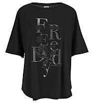 Freddy Jersey Viscose - t.shirt fitness - donna, Black