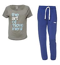 Freddy Trainingshose + T-Shirt Damen, Blue/Grey