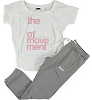Freddy Trainingshose + T-Shirt Damen, Grey/White