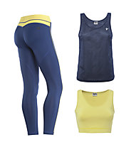 Freddy Fitness-Komplet: Pant + Shirt + Top, Blue/Lime