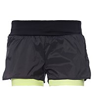 Freddy Pure Tech 2-in-1 Trainingsshorts Damen, Black/Sun