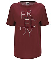 Freddy Choose Your Look - T-shirt fitness - donna, Dark Red