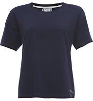 Freddy Take Light Jersey 130 GSM T-Shirt Fitness Donna, Blue