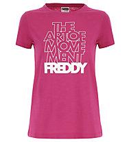 Freddy The Art of Movement - T-Shirt - Damen, Pink