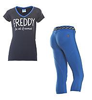 Freddy Damenkomplet: Training Color Hose + Shirt, Navy/Dark Blue