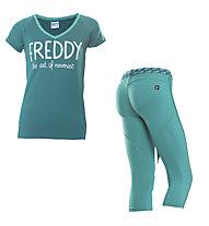 Freddy Damenkomplet: Training Color Hose + Shirt, Light Green/Green