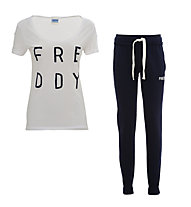 Freddy Damenkomplet: Training Color Hose + Shirt, Anthracite/White
