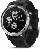 Garmin Fenix 5 Plus - orologio GPS multisport, Silver/Black
