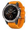 Garmin Fenix 5+ Sapphire Titan - orologio GPS multisport, Titan/Orange