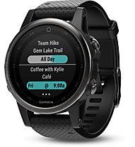 Garmin Fenix 5S Sapphire - Multisport-GPS-Armband, Black