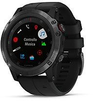 Garmin Fenix 5X Plus Sapphire - orologio GPS multisport, Black
