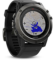 Garmin Fenix 5X Sapphire - Multisport-GPS-Uhr, Grey Metal