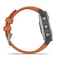 Garmin Fenix 6 Sapphire Titan - orologio sportivo cardio, Orange/Titan