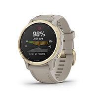 Garmin Fenix 6S Pro Solar - smartwatch solare, White/Gold