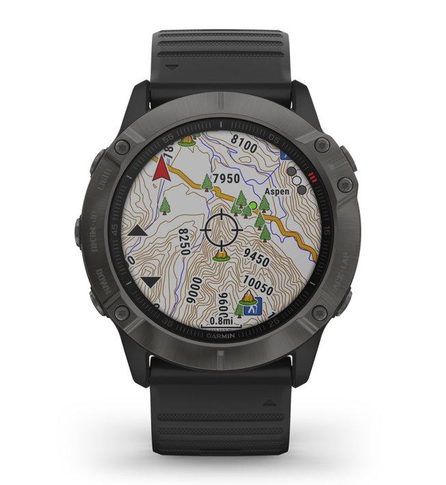 Garmin Fenix 6X Sapphire - orologio sportivo, Black