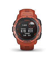 Garmin Instinct Solar - smartwatch solare, Red